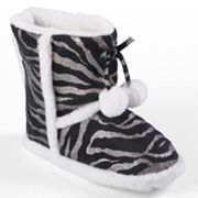 Journee Collection Mimi Zebra Slipper Boots - Girls