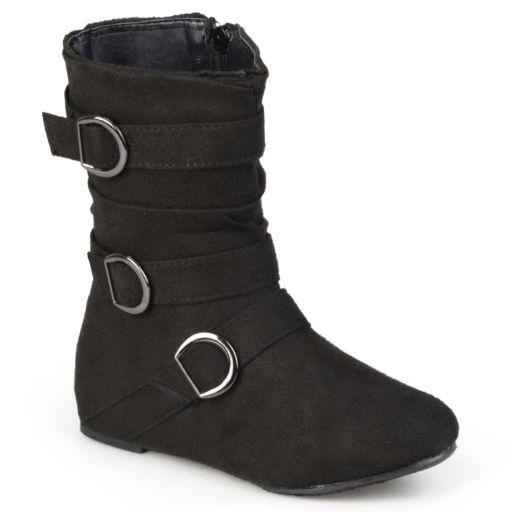 Journee Sarena Girls' Midcalf Slouch Boots