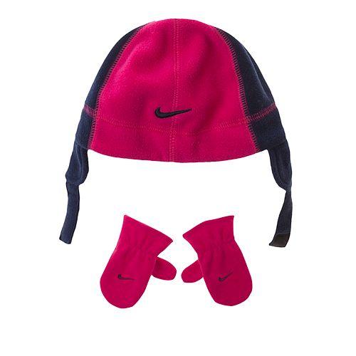 6b067d6c09096 Toddler Girl Nike Fleece Hat   Mittens Set