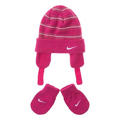 Nike Vintage Knit Hat and Mittens Set - Baby