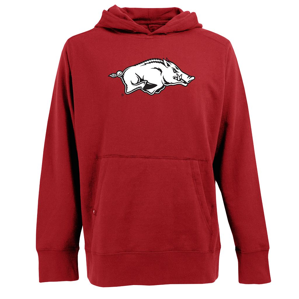 Men's Arkansas Razorbacks Signature Pullover Fleece Hoodie