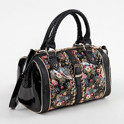 Nicole Lee Florence Floral Convertible Barrel Bag