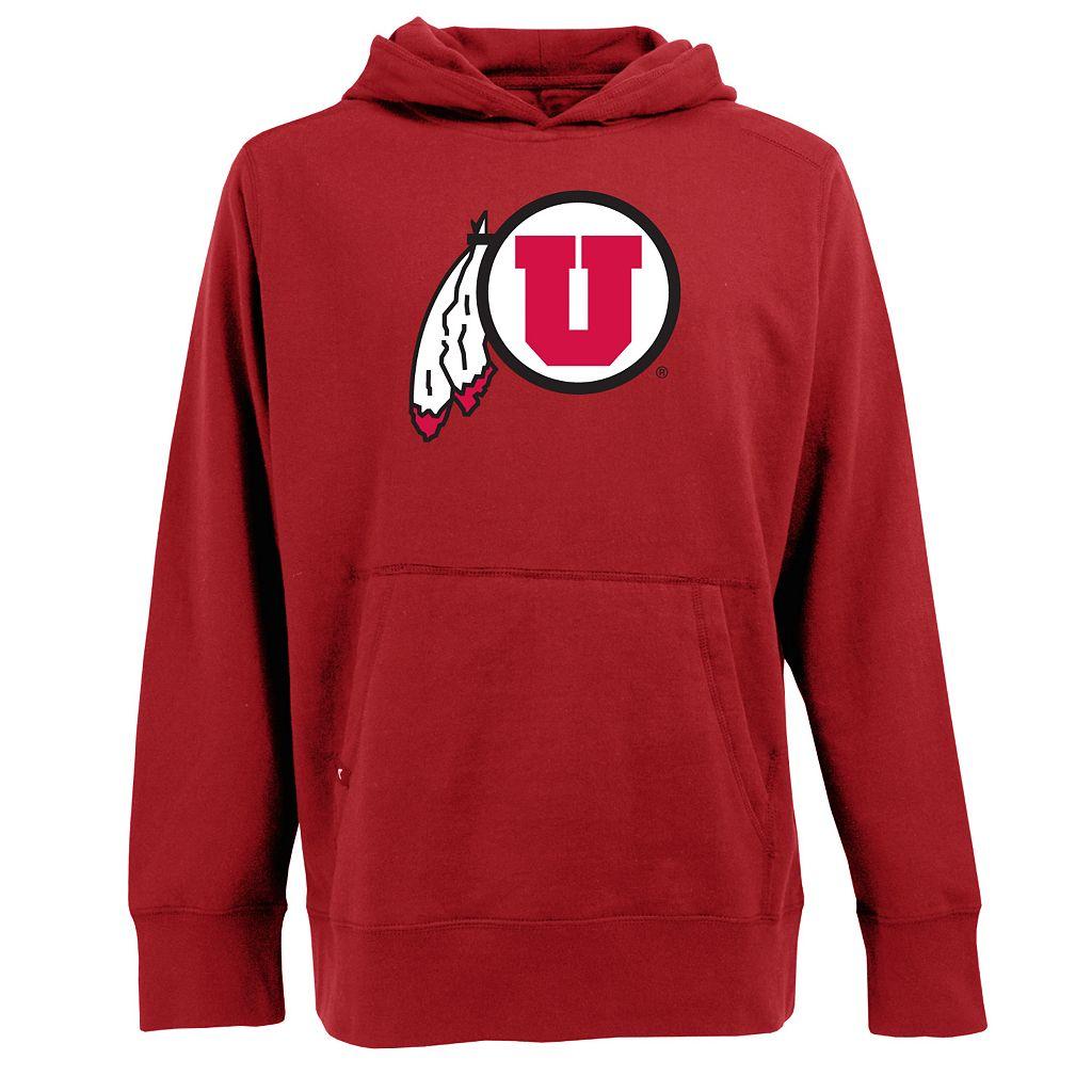 Men's Utah Utes Signature Pullover Fleece Hoodie