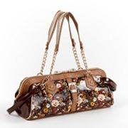 Nicole Lee Florence Floral Patent Convertible Shoulder Bag
