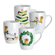 Rachael Ray Holiday Hoot 4-pc. Mug Set