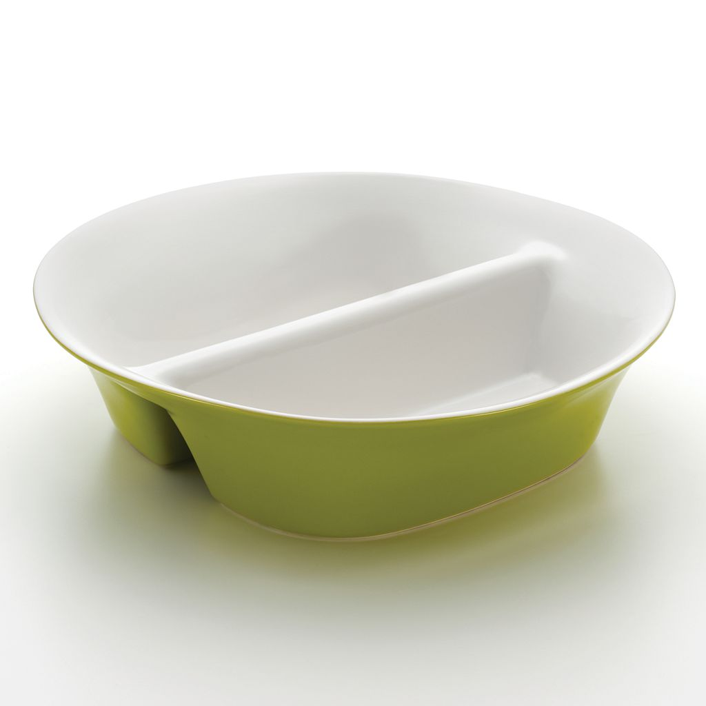 Rachael Ray Round & Square 12-in. Divided Dish