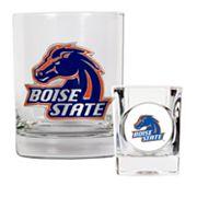 Boise State Broncos 2 pc Rocks Glass & Shot Glass Set