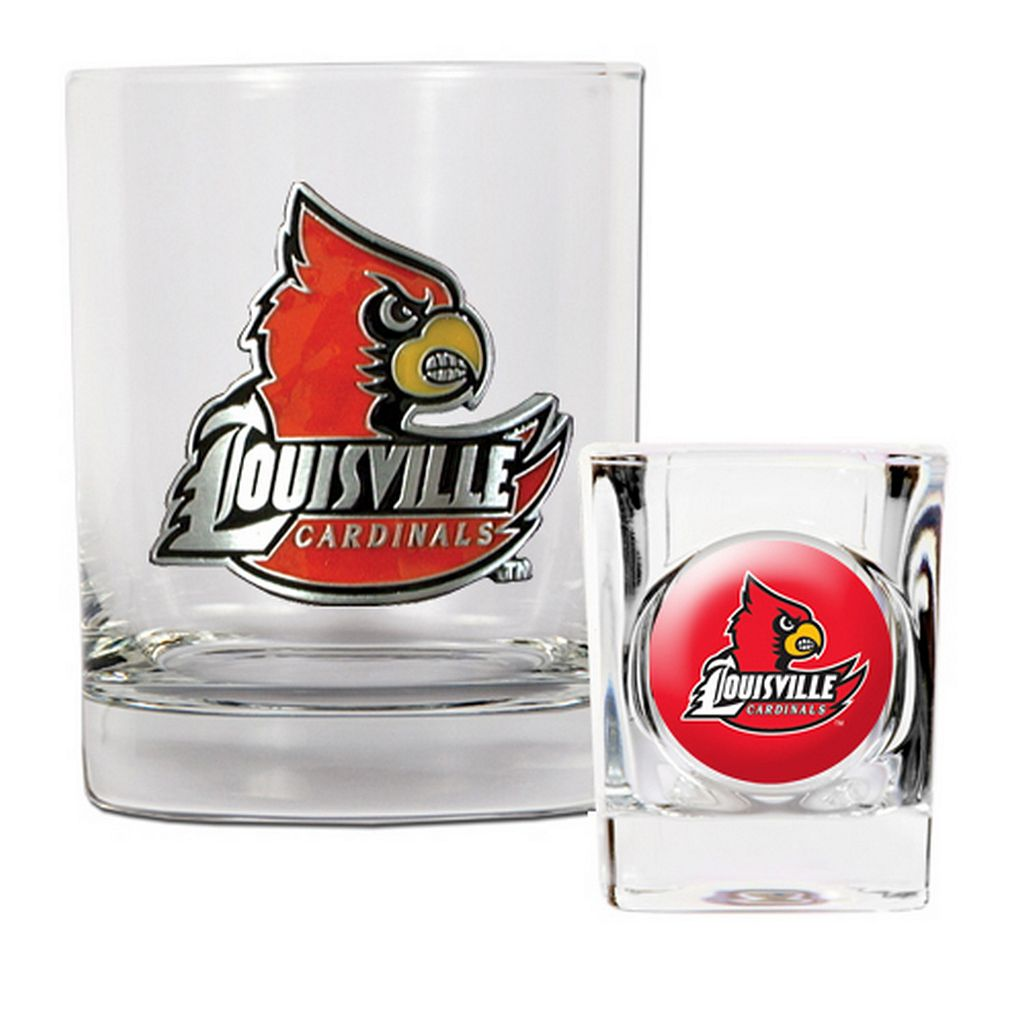 Louisville Cardinals 2-pc. Rocks Glass & Shot Glass Set