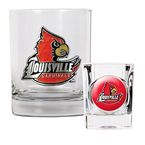 Louisville Cardinals 2-pc. Rocks Glass & Shot Glass Set