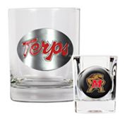 Maryland Terrapins 2-pc. Rocks Glass and Shot Glass Set