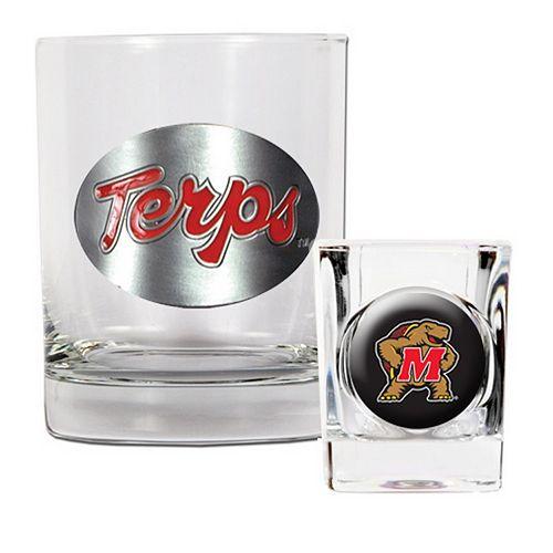 Maryland Terrapins 2-pc. Rocks Glass & Shot Glass Set