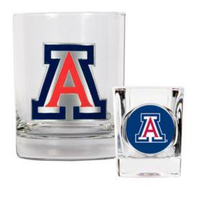 Arizona Wildcats 2-pc. Rocks Glass and Shot Glass Set