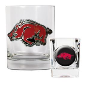 Arkansas Razorbacks 2-pc. Rocks Glass and Shot Glass Set