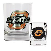 Oklahoma State Cowboys 2 pc Rocks Glass & Shot Glass Set