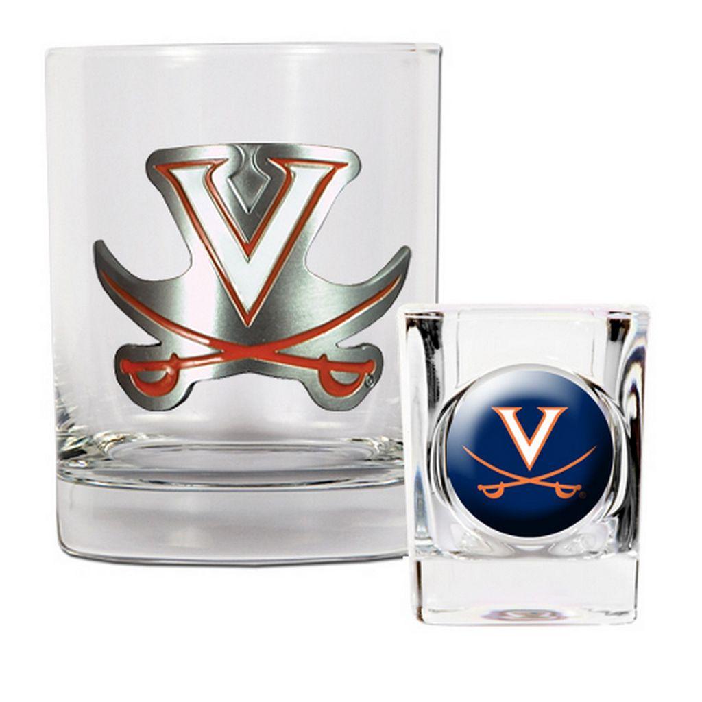 Virginia Cavaliers 2-pc. Rocks Glass & Shot Glass Set