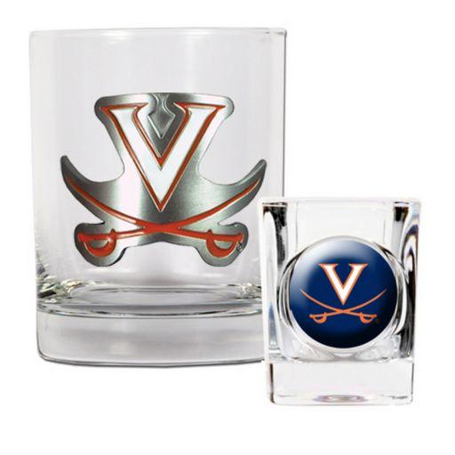 Virginia Cavaliers 2-pc. Rocks Glass and Shot Glass Set