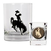 Wyoming Cowboys 2-pc. Rocks Glass and Shot Glass Set