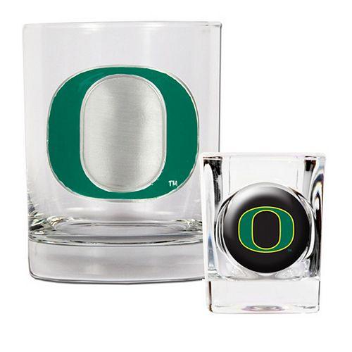 Oregon Ducks 2-pc. Rocks Glass & Shot Glass Set