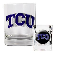 TCU Horned Frogs 2 pc Rocks Glass & Shot Glass Set