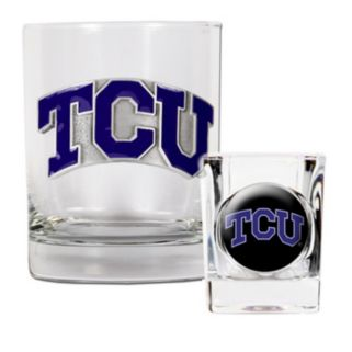 TCU Horned Frogs  2-pc. Rocks Glass and Shot Glass Set
