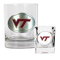 Virginia Tech Hokies 2 pc Rocks Glass & Shot Glass Set