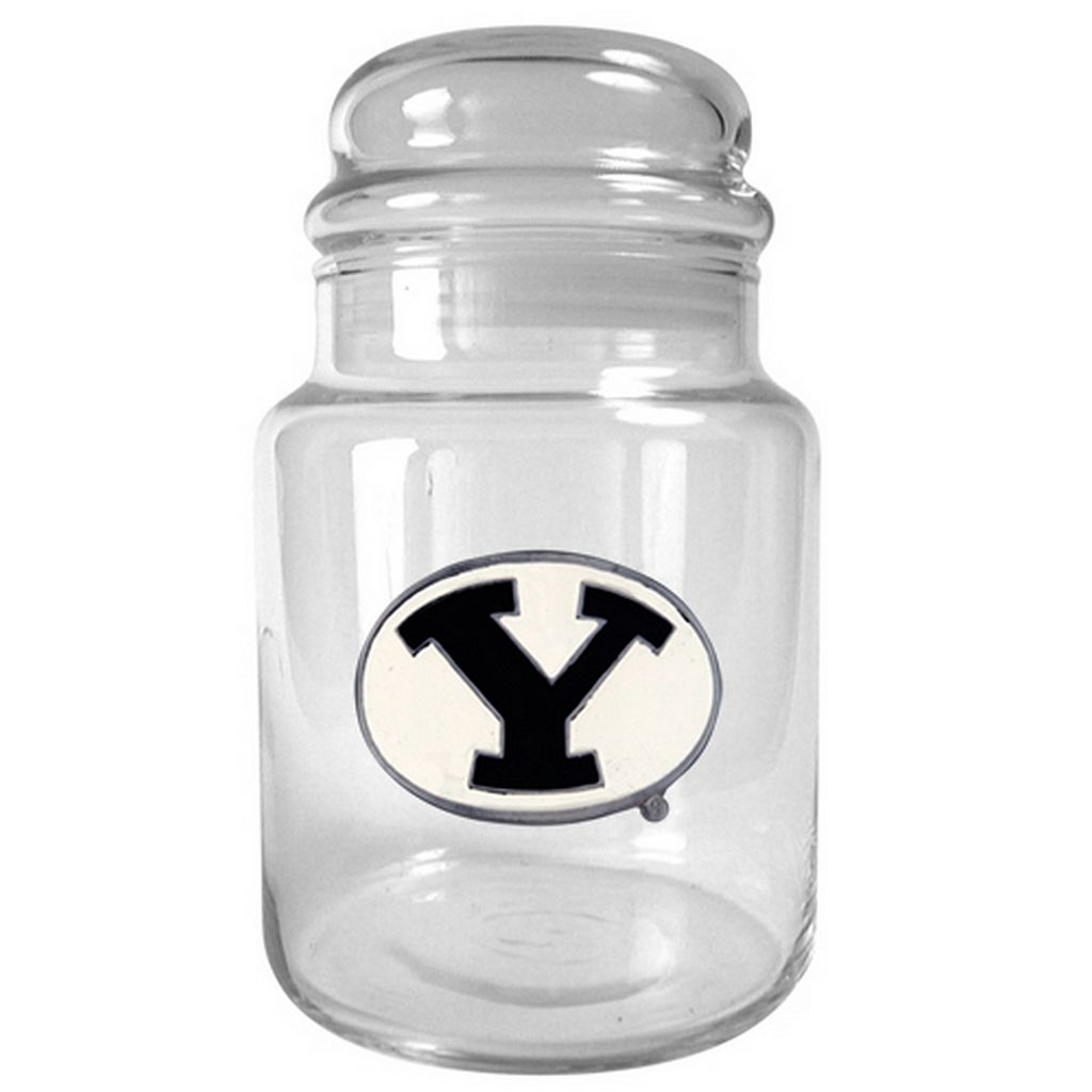 BYU Cougars Glass Candy Jar