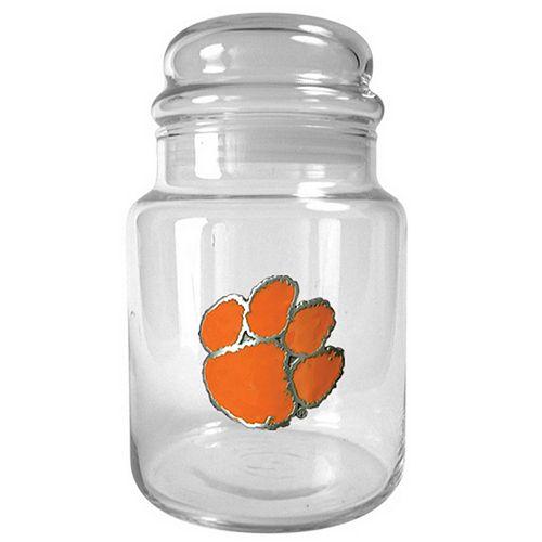 Clemson Tigers Glass Candy Jar