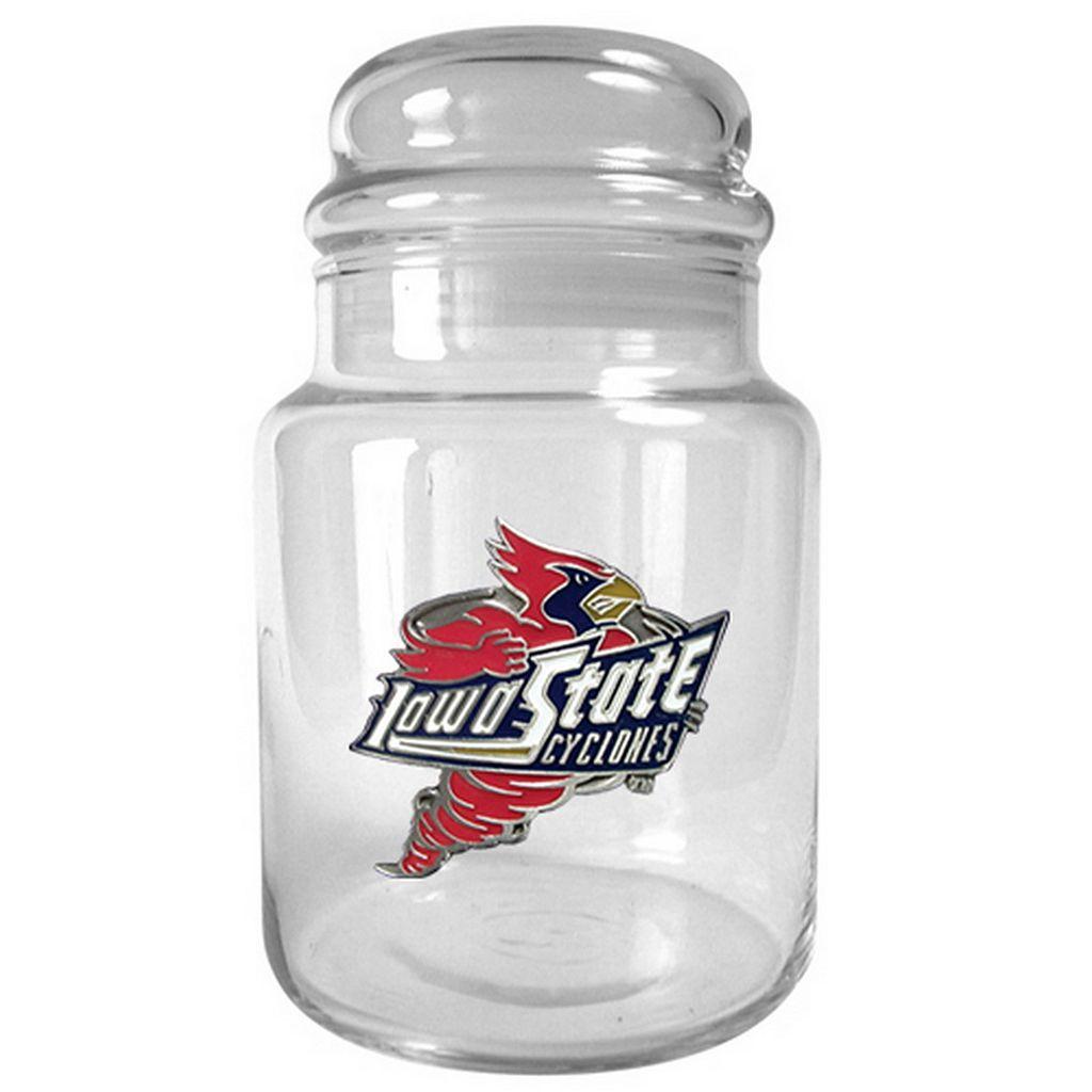 Iowa State Cyclones Glass Candy Jar