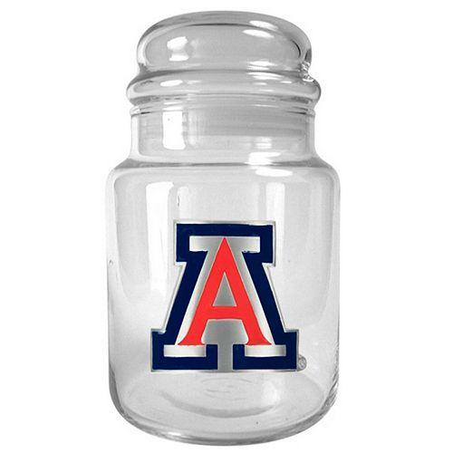 Arizona Wildcats Glass Candy Jar
