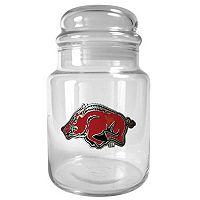 Arkansas Razorbacks Glass Candy Jar