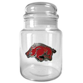 Arkansas Razorbacks Glass Candy Jar