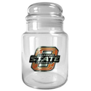 Oklahoma State Cowboys Glass Candy Jar