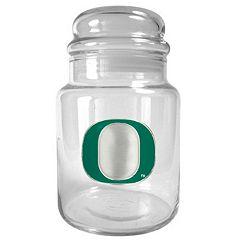 Oregon Ducks Glass Candy Jar