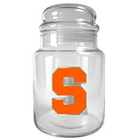 Syracuse Orange Glass Candy Jar