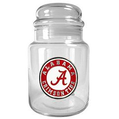 Alabama Crimson Tide Glass Candy Jar