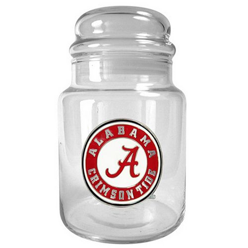 Alabama Crimson Tide Glass Candy Jar