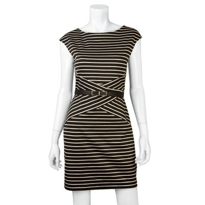 IZ Byer California Striped Dress - Juniors