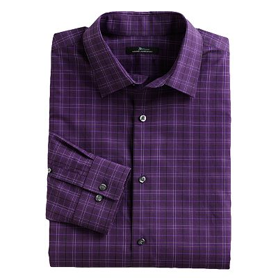 Marc Anthony Slim-Fit Patterned Spread-Collar Dress Shirt