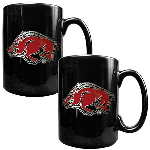 Arkansas Razorbacks 2-pc. Ceramic Mug Set