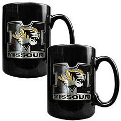 Missouri Tigers 2 pc Ceramic Mug Set