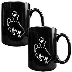 Wyoming Cowboys 2 pc Ceramic Mug Set