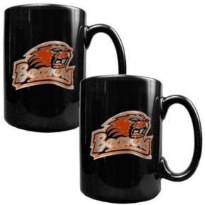 Oregon State Beavers 2-pc. Ceramic Mug Set