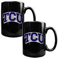 TCU Horned Frogs 2 pc Ceramic Mug Set