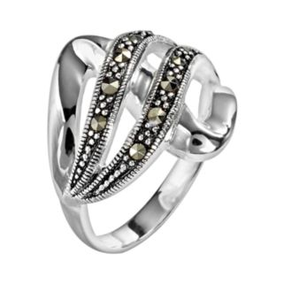 Silver Plated Swirl Ring