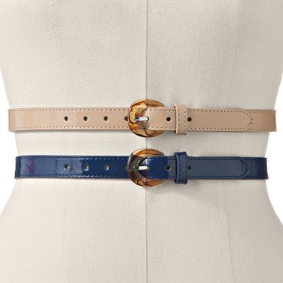 Croft and Barrow Skinny Belt Set