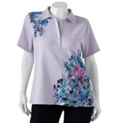 Croft and Barrow Floral Polo - Women's Plus