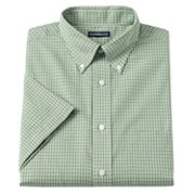 Croft and Barrow Checked Button-Down Collar Dress Shirt