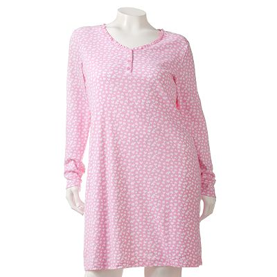 Croft and Barrow Spring Garden Henley Sleep Shirt - Women's Plus