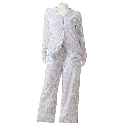 Croft and Barrow Spring Garden Printed Pajama Set - Women's Plus