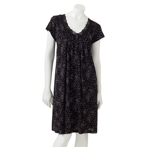 Croft   Barrow® La Vie En Rose Nightgown - Women s Plus 76a851db3